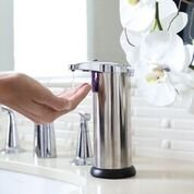 Automatic Touchless Stainless Steel Infra Red Motion Sensor Countertop Soap & Hand Sanitizer Dispenser for Kitchen and Bathroom
