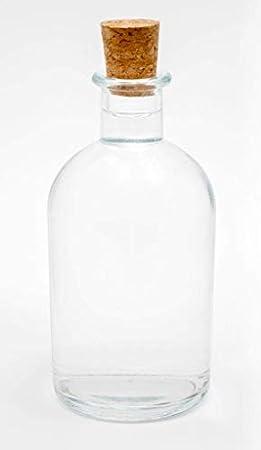 Casavetro Tapón de corcho transparente Botellas de vidrio vacías 1000 ml - Tapas de corcho recargables reutilizables - Apretado al aire para endrinas Gin Aceite Vinagre Cerveza Vino Sidra(4 x 1000 ml)