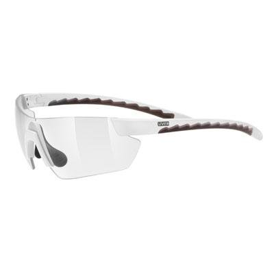 uvex Reithelme uvex Sonnenbrille active vario shield, one size, white brown/vario smoke