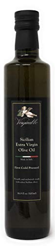 Verginello First Cold Pressed Premium Extra Virgin Olive Oil from Sicily (LG 16.9 fl oz) ()