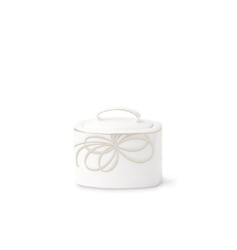 Kate Spade New York Women's Belle Boulevard Sugar Bowl with Lid White
