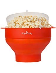 Microwave Popcorn Maker & Popper by PopSimply, Fast and Easy Homemade Popcorn