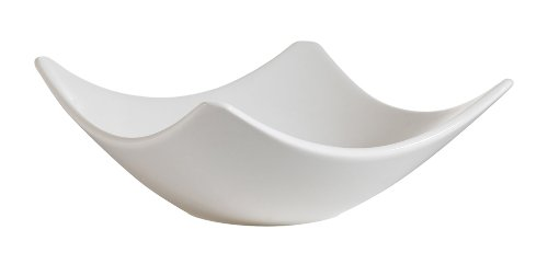 CAC China SHA-H6 Sushia 6-Inch New Bone White Porcelain Square Dish, Box of 36 by CAC China