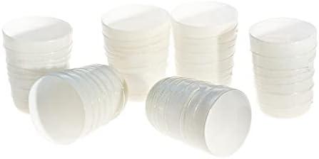 YourMurano Glass Drinkware Set of Six White Tumblers with Decorative Filaments - Glenda