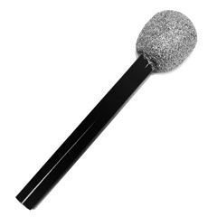 Rhode Island Novelty Non Working Plastic Glitter 10 Inch Microphone (12 Pack) ()