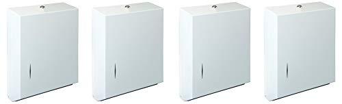 Bradley 250-150000 Stainless Steel Surface Mounted Towel Dispenser, 11'' Width x 15-5/16'' Height x 4'' Depth (4-(Pack))