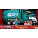 Tonka Mighty Motorized Garbage Truck with Figure (Green or Orange)