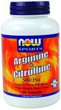 Now Foods Arginine 500mg et 250 mg