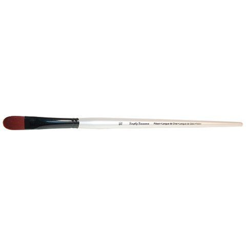 Simply Simmons Extra-Firm Synthetic Long Handle Brushes Filbert LH 4 Robert Simmons 4336956086