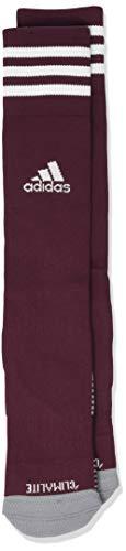 - adidas Copa Zone Cushion IV Soccer Socks (1-Pack), Maroon/White, 5-8.5