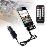3-in-1 Wireless LCD FM Transmitter with Remote & Car Charger for Apple iPhone 4G 3Gs iPod ()