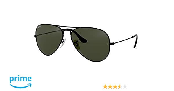 Ray-Ban Rb3025 Large Metal Aviator Sunglasses 58 Mm, Black, Size 58 Mm