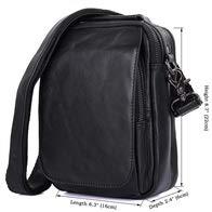 Sac Pour Shoulder amp; À En Homme Petit Bandoulière Handbags Bags Black Et Léger Yqxr Cuir wIqHW