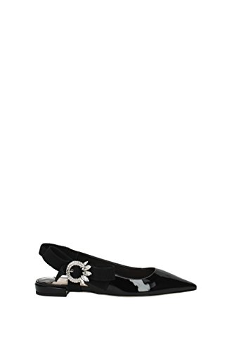 Miu Miu Sandals Women - Patent Leather (5F620BVERNICE2) UK Black