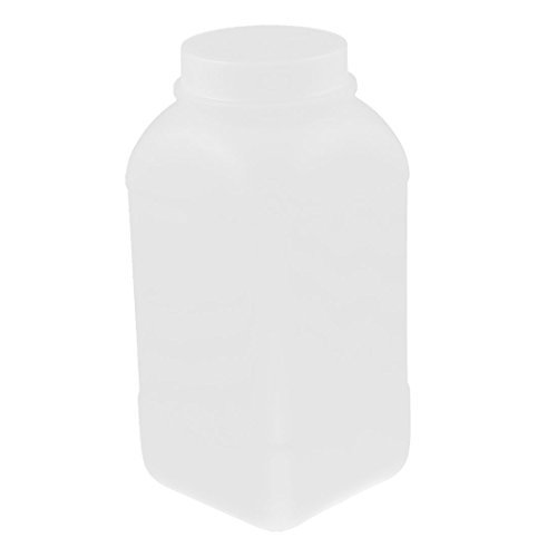 eDealMax 1000ml plástico cuadrados de ancho reactivo químico Muestra Boca Botella Blanca: Amazon.com: Industrial & Scientific