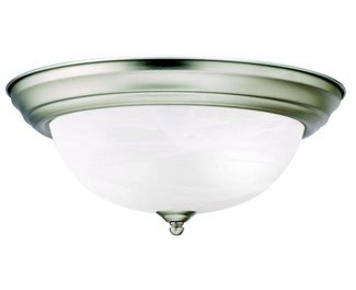 Kichler 8109NI Flush Mount 2-Light, Brushed Nickel
