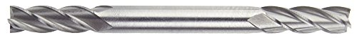 Morse Cutting Tools 43226 Regular Length Double End Mills, Cobalt, Center Cutting, Bright Finish, 4 Flutes, 5/32