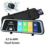 JAMORZ001Ultra-Thin HD 1080P 9.7-Inch MIPI Touch Screen 170-Degree Wide-Angle Lens Anti-Glare Rearview Mirror Night Mode, Loop Recording