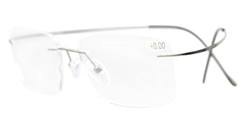 Eyekepper Titanium Rimless Eyeglasses Men Gunmetal