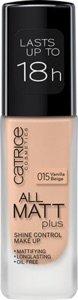 Catrice | Full Coverage Foundation Makeup - All Matt Plus Shine Control | Vegan & Paraben free | 015 Vanilla Beige