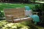 4 Ft Cypress Rolled Porch Swing