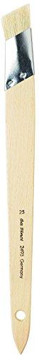 da Vinci Varnish & Priming Series 2493 Angular Liner Fitch Decor Brush, Light Bristle with Plainwood Handle, Size 25
