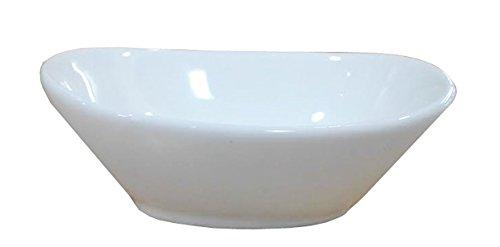 (Super White Oval Shape Porcelain Sauce Dish (Pack of 12) OT-3545)