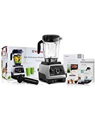Vita Mix Ice Cream - Vitamix 750 Heritage G-Series Blender with 64-Ounce Container + Introduction to High Performance Blending Recipe Cookbook + Getting Started DVD + QuickStart Guide + Low-Profile Tamper