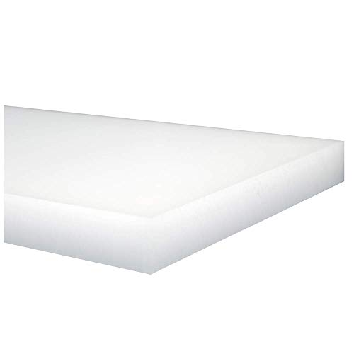 UHMW Polyethylene Plastic Sheet - Natural White - 1