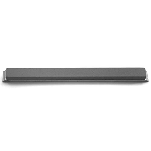 """Gritomatic Silicon Carbide 6"""" x 0.5"""" x 0.25"""" Narrow Sharpening Stone with Aluminum Mounting for Edge Pro (For Recurve Blades) 600 grit"""