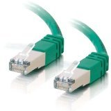 C2G/Cables to Go 27259 Cat5E Molded Shielded (STP) Network Patch Cable, Green (10 Feet/3.04 (Cables To Go Network Modems)