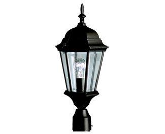 Kichler 9956BK Madison Outdoor Post Mount 1-Light, Black