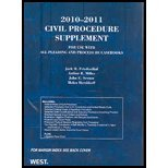 Civil Procedure ('10-'11 Suppl), Friedenthal, 0314920218