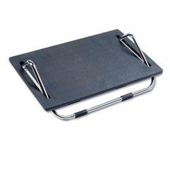Safco Ergo-Comfort 5quot;H Adjustable Footrest Black with Chrome Stand - 5 (Ergo Footrest)