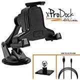 iBOLT xProDock AMPS Combo w// 2 mounting Options Metal AMPs Drill Base Mount//Suction Cup Mount and 2m Charging Cable Compatible with Samsung