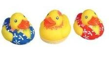 Rubber Ducky Luau Ducks - One Dozen - Ernie Duckie Rubber