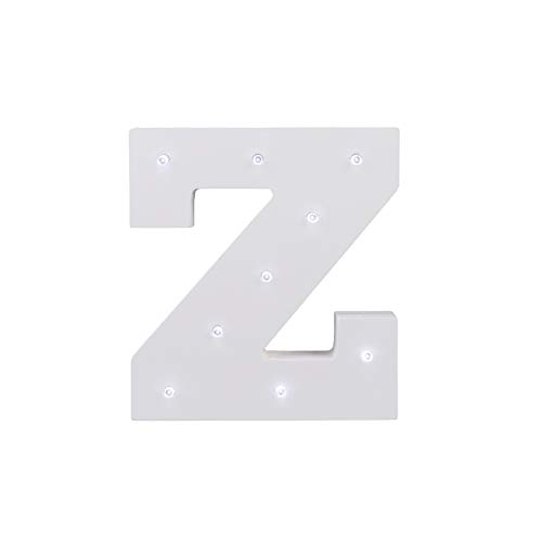 ARTSTORE Decorative DIY LED Letter Lights Sign,Light Up Wooden Alphabet Letter Battery Operated Party Wedding Marquee Décor,Cold White Z by ARTSTORE