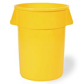 Food-Grade Waste Container, 20 gal, YLW