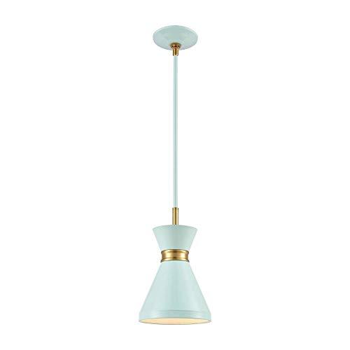 Elk Lighting 46513/1 Pendant Light, Pastel Aqua, Brushed Brass