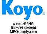 Koyo Bearing 6308 2RSNR SINGLE ROW BALL BEARING