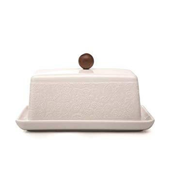 ''Chalet Chic'' Butter Dish by Natural Living Gourmet ()