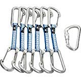 Omega Pacific Carabiner Quickdraw, Dash, Bright, Wire/Wire, 6 Pack, USA Made, ISO Cold Forged Aircraft Aluminum Alloy for Climbing by Omega Pacific