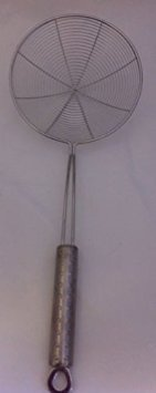 16cm Large Skimmer Chinese/Indian Strainer Ladle Stainless Steel for Frying Pakora,&Chips Y & Y
