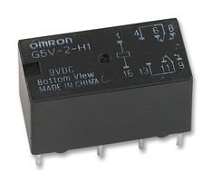 OMRON ELECTRONIC COMPONENTS G5V-2-H1 9DC SIGNAL RELAY, DPDT, 9V, 1A, PCB (1 piece) (1a Relay Dpdt)