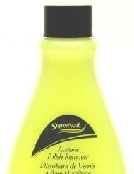 Super Nail 4 oz. Acetone Polish Remover (Yellow) (Case of 6) by Super Nail