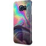 Rainbow Holographic Print Tie Dye Marble Hard Plastic Samsung Galaxy S6 Edge Plus Phone Case Cover