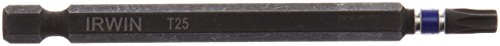 Irwin Tools 1837520 Impact Performance Series TORX T25 Power Bit, 3-1/2
