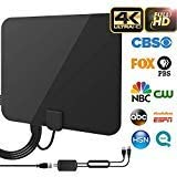 [2019 Upgraded] HDTV Antenna - Digital Amplified HD TV Antenna 80 Mile Range 4K HD VHF UHF Freeview Television Local Channels w/Detachable Signal Amplifier and 16.5ft Longer Coax Cable