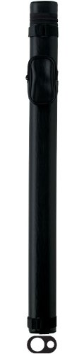 Action Vinyl Pool Cue Case (1 Butt and 1 Shaft), Black ()