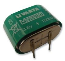 VARTA 55615603940 BATTERY, BUTTON CELL, NIMH, 3.6V, 150mAh